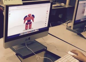 Robot designed in TinkerCAD