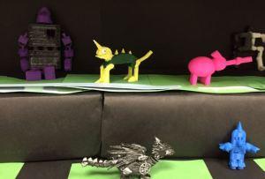 Student designed 3D printed robots