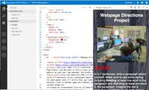 Visual Studio Code within Azure portal