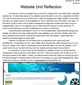 Website Reflection